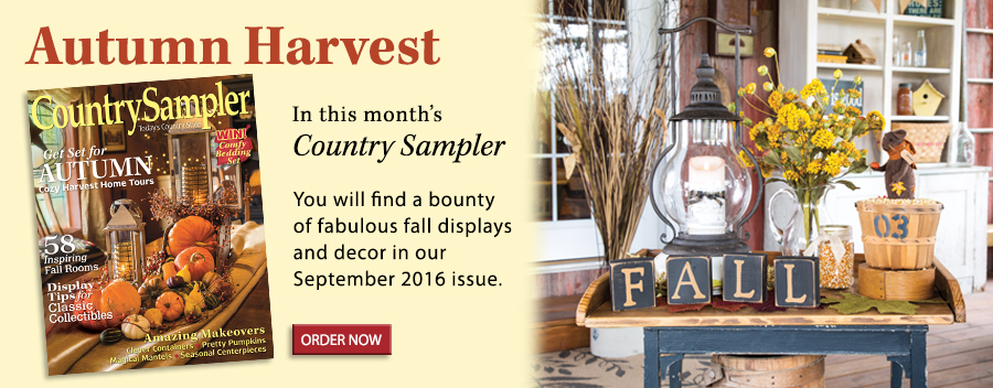 You will find a bounty of fabulous fall displays and decor in our September 2016 issue.