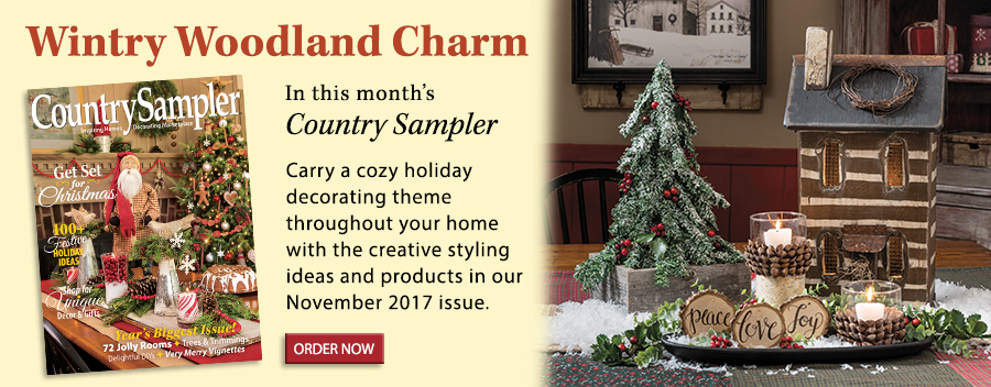 Carry a cozy holiday decorating theme throughout your home with the creative styling ideas and products in our November 2017 issue.