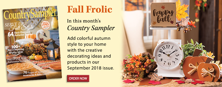 Add colorful autumn style to your home with the creative decorating ideas and products in our September 2018 issue.