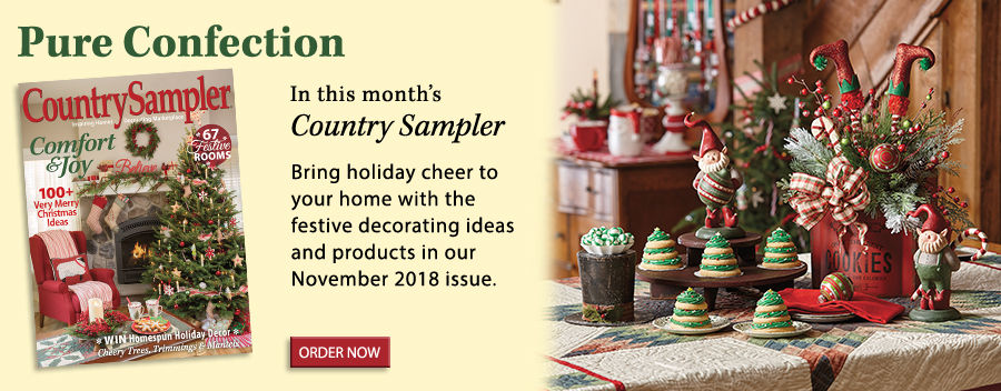 Bring holiday cheer to your home with the festive decorating ideas and products in our November 2018 issue.