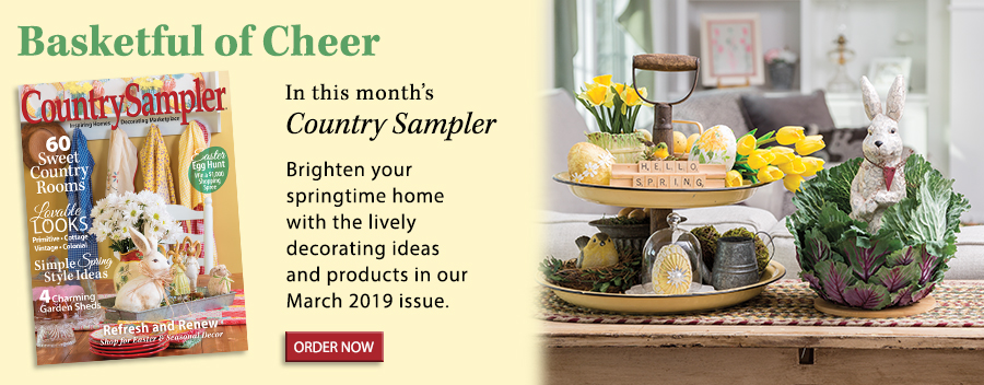 Brighten your springtime home with the lively decorating ideas and products in our March 2019 issue.