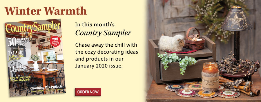 Chase away the chill with the cozy decorating ideas and products in our January 2020 issue.