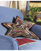 Rug-Hooked Star Pillow E-pattern