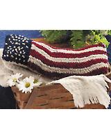Rug-Hooked Flag Pillow E-pattern