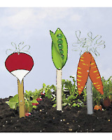 Wire Vegetable Markers E-pattern