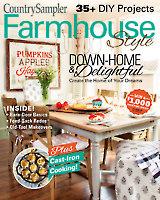 Country Sampler Farmhouse Style 2018 Autumn