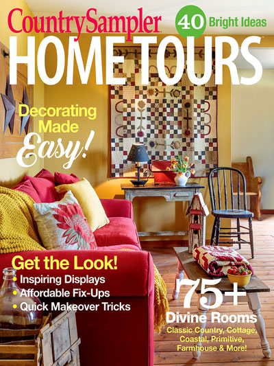 Astounding Magazines Home Tours Country Samplers Home Tours 2017 Home Interior And Landscaping Ymoonbapapsignezvosmurscom