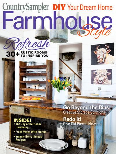Magazines Farmhouse Style Country Sampler Farmhouse Style 2019 Spring