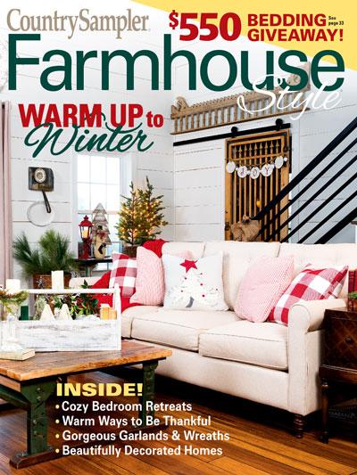 Magazines Farmhouse Style Country Sampler Farmhouse Style Holiday 2019